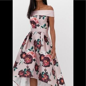 High low floral wedding/cocktail dress